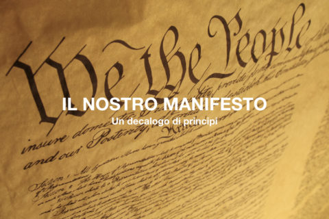 Il nostro manifesto